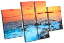 rocks scenic Sunset Seascape - 13-0117(00B)-MP17-LO
